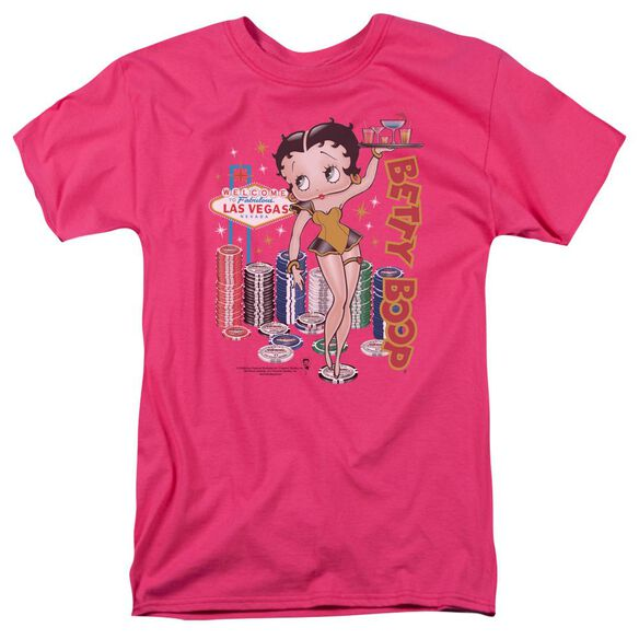 Betty Boop Wet Your Whistle Short Sleeve Adult Hot Pink T-Shirt