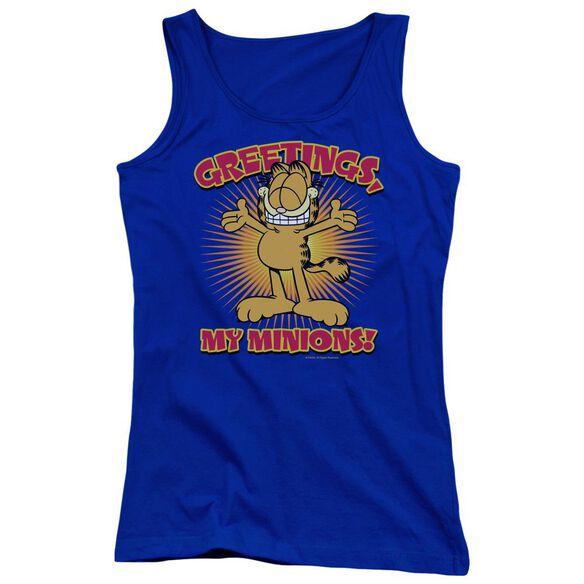 Garfield Minions Juniors Tank Top Royal