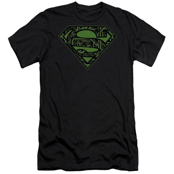 Superman Circuits Shield Premuim Canvas Adult Slim Fit