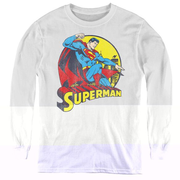Dc Big Blue - Youth Long Sleeve Tee - White