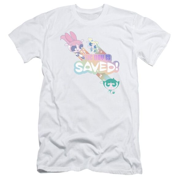 Powerpuff Girls The Day Is Saved Short Sleeve Adult T-Shirt