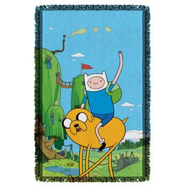 Adventure Time Best Bros Woven Throw White