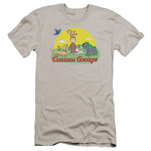 Curious George Sunny Friends Premuim Canvas Adult Slim Fit