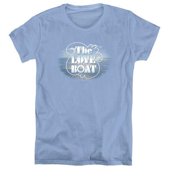 LOVE BOAT THE LOVE BOAT - S/S WOMENS TEE - CAROLINA BLUE T-Shirt