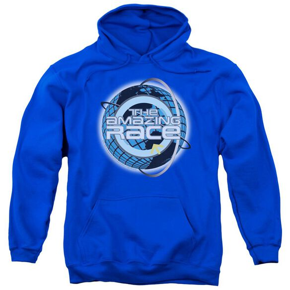 Amazing Race Around The Globe Adult Pull Over Hoodie Royal