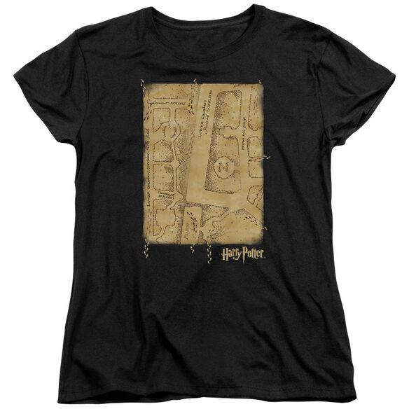 Harry Potter Marauders Map Interior Short Sleeve Womens Tee T-Shirt
