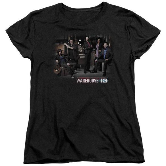 Warehouse 13 Warehouse Cast Short Sleeve Womens Tee Black T-Shirt