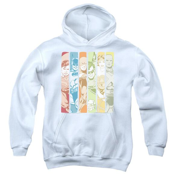 Dc Justice League Columns Youth Pull Over Hoodie