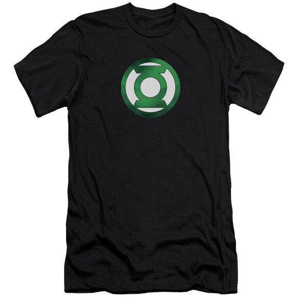 Green Lantern Green Chrome Logo-premuim Canvas Adult Slim