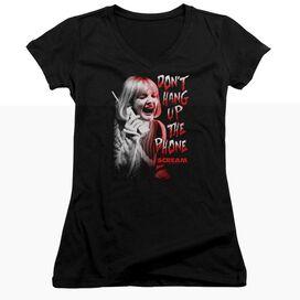 Scream Dont Hang Up Junior V Neck T-Shirt