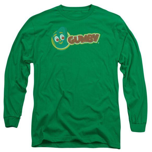 Gumby Logo Long Sleeve Adult Kelly T-Shirt