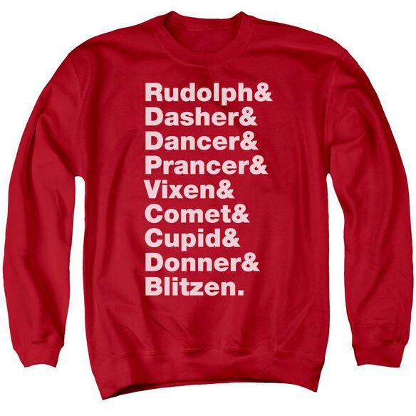 Reindeer Adult Crewneck Sweatshirt