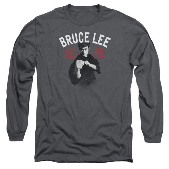Bruce Lee Ready Long Sleeve Adult T-Shirt
