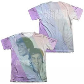Wham Pastel Lines (Front Back Print) Adult Poly Cotton Short Sleeve Tee T-Shirt