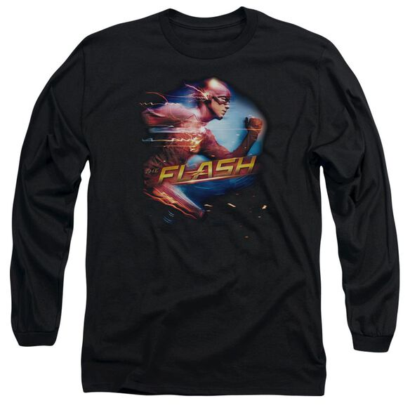 The Flash Fastest Man Long Sleeve Adult T-Shirt