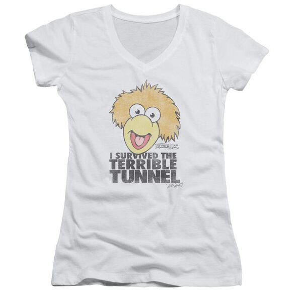 Fraggle Rock Terrible Tunnel Junior V Neck T-Shirt