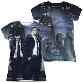 Gotham City Nights (Front Back Print) Short Sleeve Junior Poly Crew T-Shirt