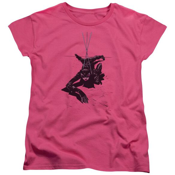 BATMAN CATWOMAN ROPE - S/S WOMENS TEE - HOT PINK T-Shirt