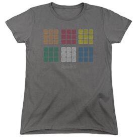 Rubiks Cube Minimal Squares Short Sleeve Womens Tee T-Shirt