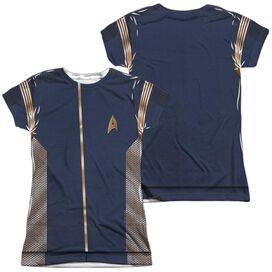 Star Trek Discovery Command Uniform (Front Back Print) Short Sleeve Junior Poly Crew T-Shirt