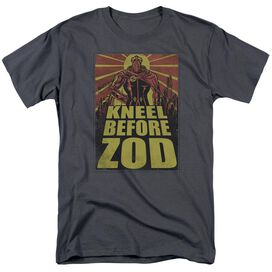 Superman Zod Poster Short Sleeve Adult Charcoal T-Shirt