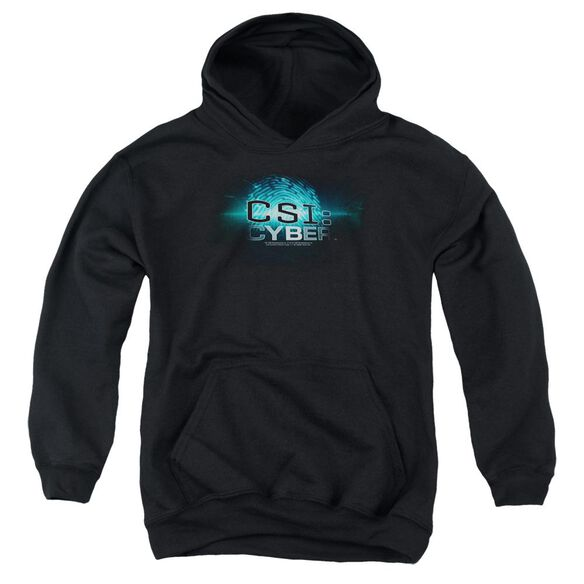 Csi: Cyber Thumb Print Youth Pull Over Hoodie