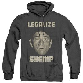 Three Stooges Legalize Shemp - Adult Heather Hoodie - Black