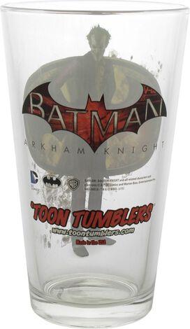 Batman Arkham Knight Joker Toon Tumbler Pint Glass
