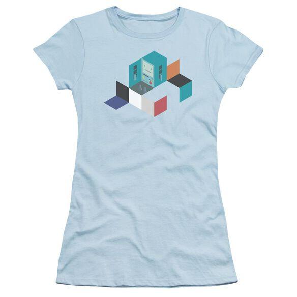 Adventure Time Bmo Blocks Short Sleeve Junior Sheer Light T-Shirt