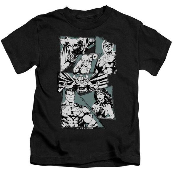 Jla A Mighty League Short Sleeve Juvenile Black Md T-Shirt