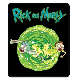 Rick and Morty Portal Blanket