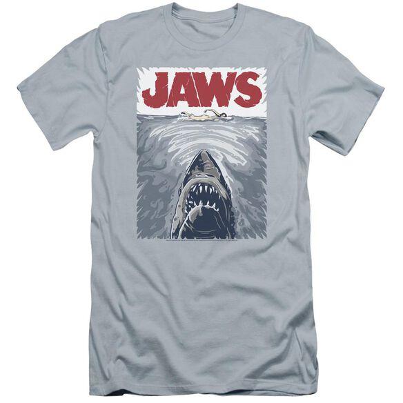Jaws Graphic Poster Premuim Canvas Adult Slim Fit Light