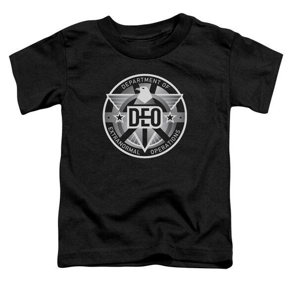 Supergirl Deo Short Sleeve Toddler Tee Black T-Shirt