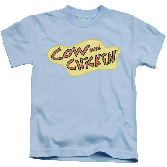 Cow And Chicken Cow Chicken Logo Short Sleeve Juvenile Light Blue T-Shirt