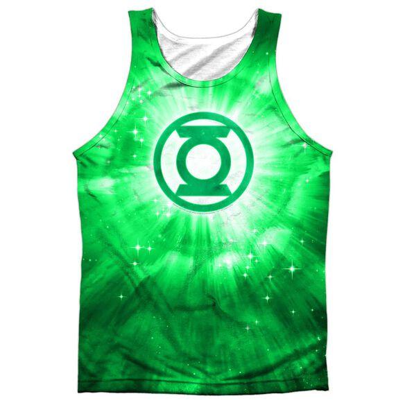 Green Lantern Green Energy Adult 100% Poly Tank Top