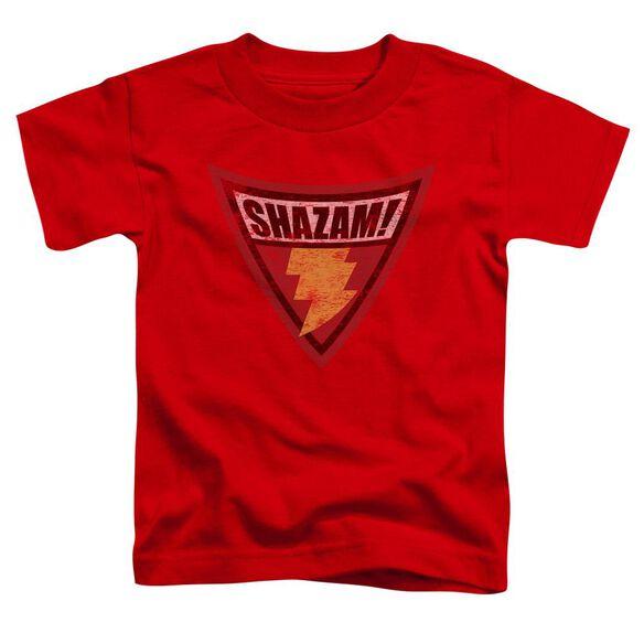 Batman Bb Shazam Shield Short Sleeve Toddler Tee Red Lg T-Shirt