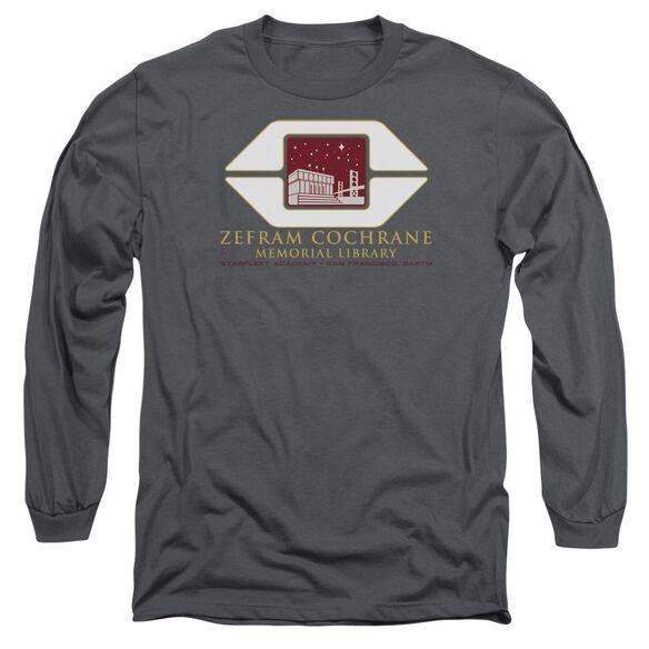 Star Trek Cochrane Library Long Sleeve Adult T-Shirt