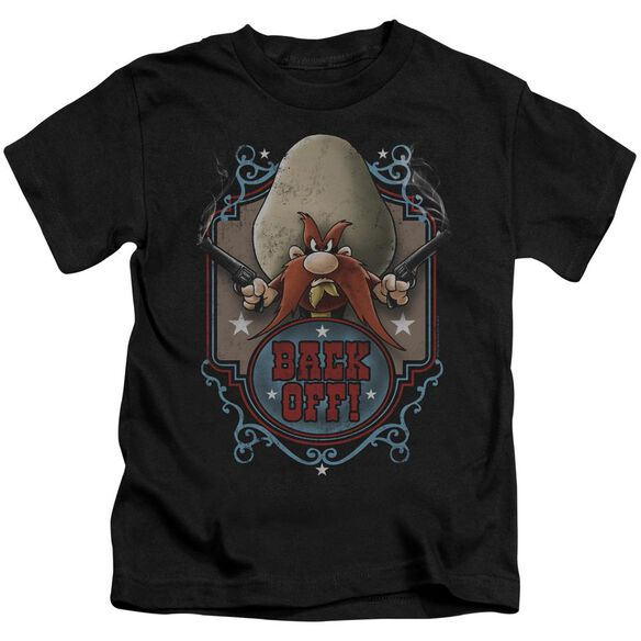 Looney Tunes Back Off Short Sleeve Juvenile Black T-Shirt