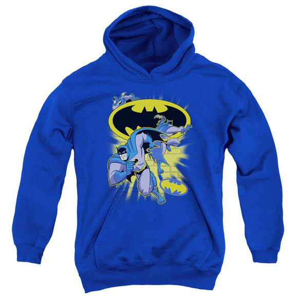 Batman Bb Action Collage Youth Pull Over Hoodie
