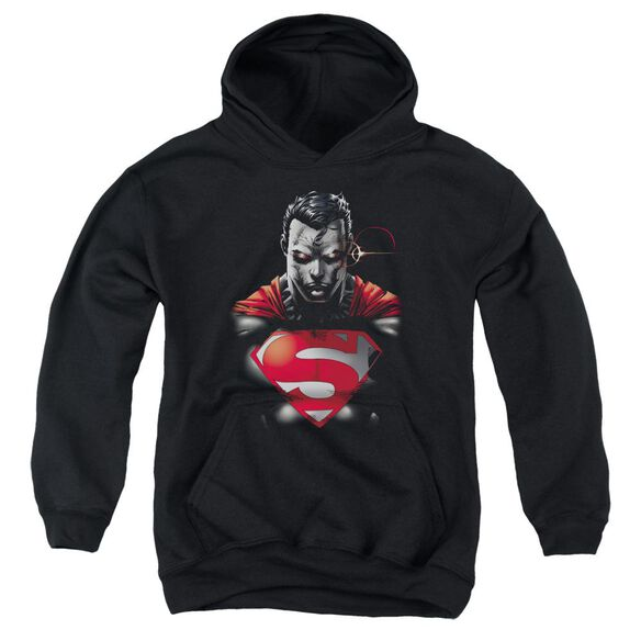 Superman Heat Vision Charged Youth Pull Over Hoodie