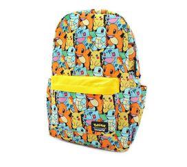 Loungefly Pokemon Starters All Over Print Nylon Mini Backpack