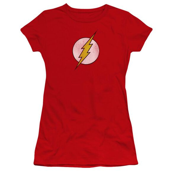 Dc Flash Logo Distressed Premium Bella Junior Sheer Jersey