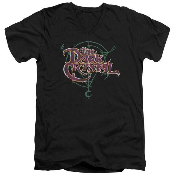 Dark Crystal Symbol Logo Short Sleeve Adult V Neck T-Shirt