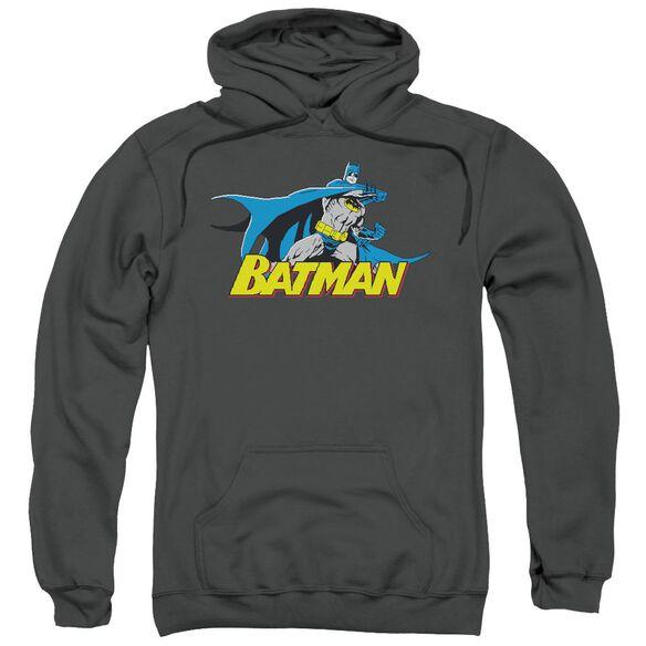 Batman 8 Bit Cape Adult Pull Over Hoodie
