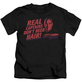 Star Trek Real Captain Short Sleeve Juvenile Black T-Shirt