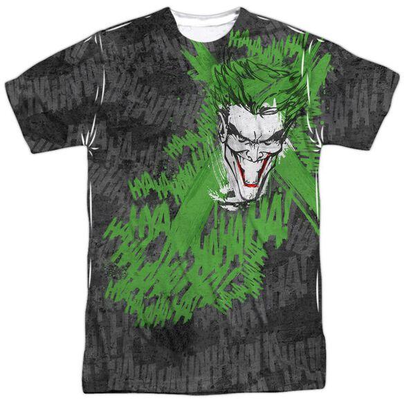 Batman Whats So Funny Short Sleeve Adult Poly Crew T-Shirt