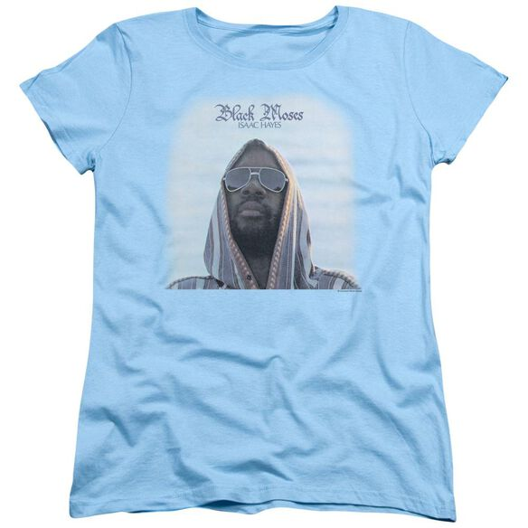 Issac Hayes Black Moses Short Sleeve Womens Tee Light T-Shirt