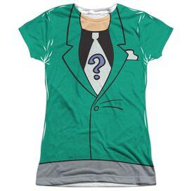 Batman The Animated Series Riddler Uniform Short Sleeve Junior Poly Crew T-Shirt