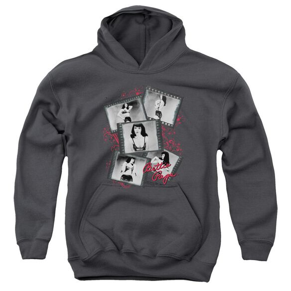 Bettie Page Exposure Youth Pull Over Hoodie