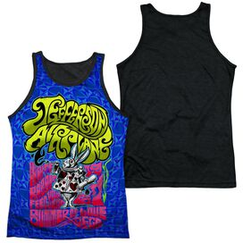 Jefferson Airplane Rabbit Adult Poly Tank Top Black Back